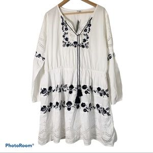 Simply Bee 18 embroidered eyelet mini dress